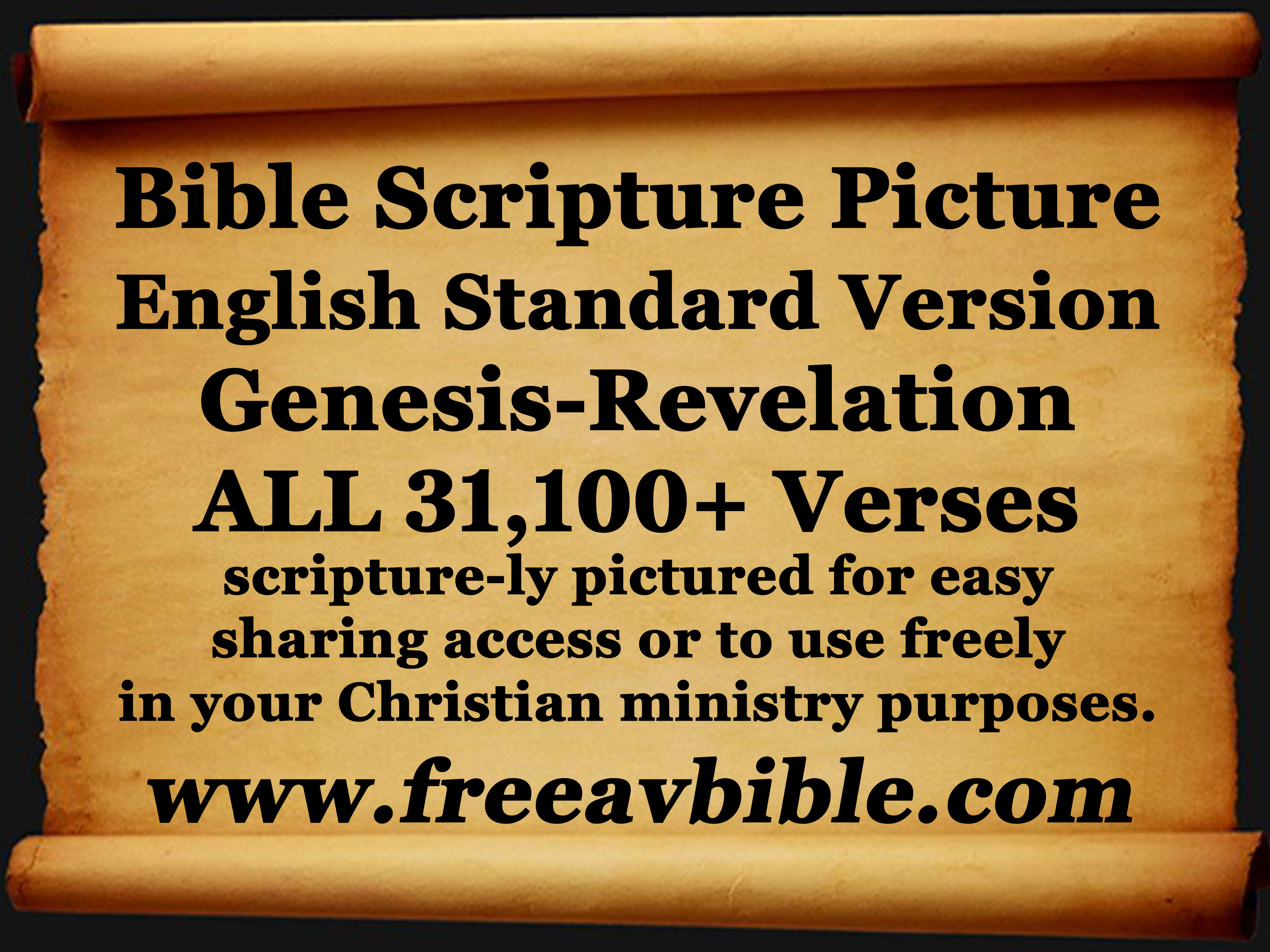 English Standard Version Bible Scripture Pictures